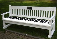 Piano keyboard park benc #piano keyboard park bench