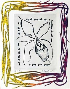 ALECHINSKY : alechinsky-fleurs-3-gravure Tachisme, Matisse, Picasso, Art Informel, Miro, Art Abstrait, Gravure, Painters, Moose Art