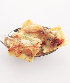 Ravioli With Caramelized Fennel|Cooked slowly in butter, golden brown fennel adds a sweet, mild licorice flavor to cheese ravioli.