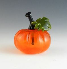 """Pumpkin Perfume Bottle""  Art Glass Perfume Bottle   by Garrett Keisling"