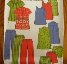 NEW LOOK Sewing Pattern 6642 - WOMENS Size 18w-26w PANTS-SHORTS- 3-STYLE TOPS