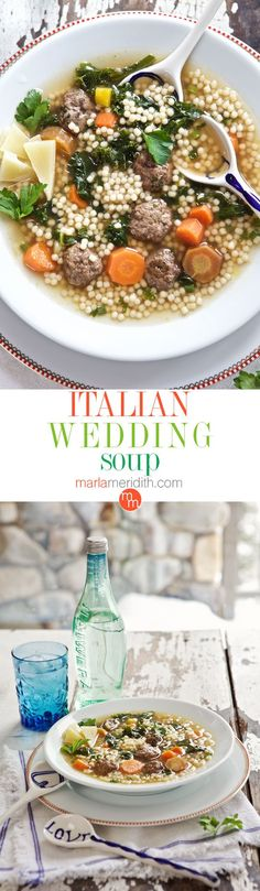 Italian Wedding Soup | a family favorite! MarlaMeridith.com ( @marlameridith )