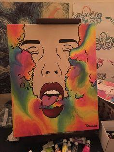 Art inspiration drawing artworks ideas for 2019 Trippy Painting, Painting & Drawing, Hippie Painting, Trippy Drawings, Art Drawings, Dope Kunst, Arte Black, Stoner Art, Arte Sketchbook