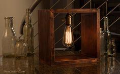 SALE Shadow Box Edison Lamp SALE von DanCordero auf Etsy