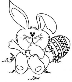 easter with tiny animals coloring pages