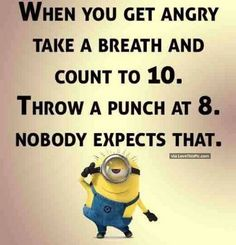 Funny Minion Quote About Anger Pictures, Photos, and Images for Facebook, Tumblr, Pinterest, and Twitter