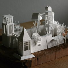 Paperholm: A growing paper city, daily models by Charles Young - www.paperholm.com