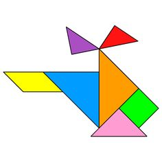 Tangram Helicopter - Tangram solution - Providing teachers and pupils with tangram puzzle activities Shapes For Kids, Math For Kids, Fun Math, Math Games, Preschool Activities, Tracing Shapes, Transportation Activities, Tangram Puzzles, Shape Art