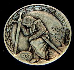 """""""The Knight's Templar"""" 2 Sided Mini Man Obverse by Howard Thomas"""