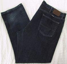 Men Wrangler Vintage Hero Jeans Relaxed Straight Leg Dark Wash sz 40 X 30 #Wrangler #RelaxedStraightLeg
