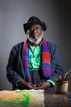 Where I work: artist Frank Bowling African American Artist, American Artists, British Artists, Action Painting, Figure Painting, Harlem Renaissance Artists, Protest Art, Black Artists, Male Artists