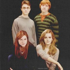 The couples: Harry and Ginny & Ron and Hermione