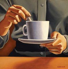 "adreciclarte: ""by kenton Nelson "" Grant Wood, American Scene Painting, Tamara Lempicka, Art Deco Posters, People Art, Coffee Art, Coffee Recipes, Art Plastique, Acrylic Paintings"