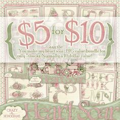 You Make My Heart Soar Big Value Bundle Digital Scrapbooking Kit deal for only 5.00!