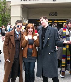 Donna Noble, 10th Doctor and Capt. Jack... Cosplay! So love!