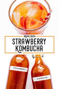 Looking for a fresh flavor to try out on your homemade kombucha? This Strawberry Kombucha recipe is easy to brew and makes for a perfect balance between sweet and tart! Jun Kombucha, Kombucha Flavors, How To Brew Kombucha, Making Kombucha, Kombucha Brewing, Kombucha Benefits, Fermented Tea, Fermented Foods, Kambucha Recipe