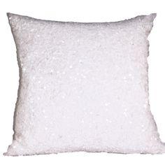 SEQUIN white cushion <3 www.ByMalou.no