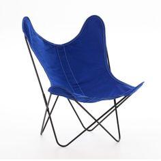 News Lovely Market - Fauteuil AA, coton bleu roi - Fauteuil AA de Airborne, îcone du design...