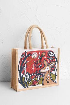 Christmas deer cute bag illustration designed by Monqui for Seasalt Cornwall Christmas Bags, Christmas Deer, Christmas Stuff, Small Jute Bags, Jute Shopping Bags, Bag Illustration, Bags 2018, Shopper Bag, All Sale