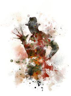 Freddy Krueger ART PRINT illustration Nightmare on by SubjectArt