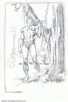 Original Comic Art:Sketches, John Buscema - Original Tarzan Pencil Art (Undated). Best known forhis graphic renderings of Conan and other barbarians, Bu... Image #1