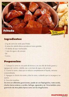 from Recetas Ecuatorianas Seafood Recipes, Cooking Recipes, Equador, Comida Latina, Caribbean Recipes, Latin Food, Make It Simple, Pork, Yummy Food