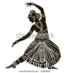 Find Indian Woman stock images in HD and millions of other royalty-free stock photos, illustrations and vectors in the Shutterstock collection. Doodle Art Drawing, Cool Art Drawings, Pencil Art Drawings, Drawing Sketches, African Art Paintings, Dance Paintings, Woman Silhouette, Silhouette Art, Ballerina Silhouette