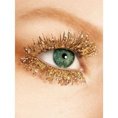 gold-glitter-mascara Eyeshadow Lipstick ❤ liked on Polyvore featuring beauty products, makeup, lip makeup and lipstick