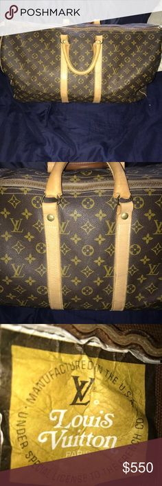 Exclusive Louis Vuitton keepall 55 Authentic Louis Vuitton the French Company American made vintage keepall 55 in very good condition retails $1799.99!!! Save money and buy a very good condition used Louis Vuitton keepall!!!! This will last you a lifetime with the great American made pride! Louis Vuitton Bags Travel Bags