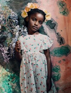 Flower girl Amazingness Photo by Marguerite Oelofse Creative direction & Floral styling: Alwijn Jacobus Burger Styling: Gavin Mikey Collins Hair & mMkeup: Melissa van Zyl Model: Mekayla @ Pulse Kids Beautiful Children, Beautiful Babies, Stylish Children, Black Girl Magic, Black Girls, Black Babies, Moda Kids, Magazine Images, Terry Richardson