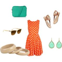 Orange and Mint. I mostly want this combo for the kitchen but love that dress!