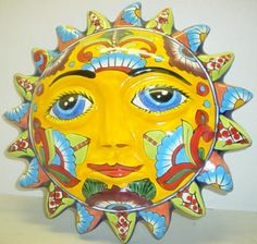 Talavera or Metapec clay sun- a very engaging lesson for young kids about Mexican culture, too!