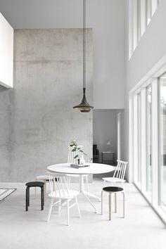 wände streichen betonoptik esszimmer
