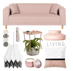 """""""Living Room - Pink"""" by by-jwp ❤ liked on Polyvore featuring interior, interiors, interior design, home, home decor, interior decorating, Rove Concepts, Umbra, Voluspa and Rituals"""