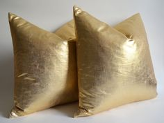 Sukan / 1 Linen Pillow Covers Metallic Gold - large pillow - euro pillows - european pillow covers - throw pillow - 26x26 pillow covers via Etsy