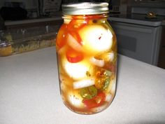The Best Spicy Pickled Eggs Recipe. Pickled eggs: You either hate them or love them. Well, for the pickled egg lovers out there I have worked on a spicy recipe for some time, and I think it is now just about perfect! I hope you enjoy. Best Pickled Eggs, Spicy Pickled Eggs, Pickled Sausage, Pickled Eggs And Sausage Recipe, Pickled Meat, Canning Recipes, Spicy Recipes, Egg Recipes, Recipies