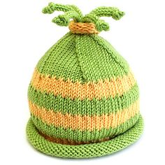 Cutie hat for cutest babies and toddlers. No seams to hurt the tiny head, just a bunch of funny i-cords to bounce when the little one is active free pattern ... DK wgt .... newborn - infant - toddler.