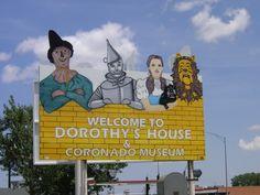 The Oz foursome outside of Liberal, Kansas.