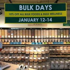 Our extensive bulk department awaits you for Bulk Days Thurs-Sun. 10% off all bulk food and Wellness items. Come explore! #healthyfood #centralseattle #savings #gocoop