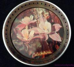 Vintage Colorful Colorado Columbine Flower Coaster Souvenir Metal Japan FR SHP