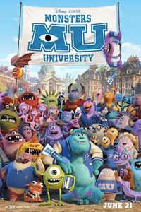 Monsters University movie poster...my boys can't wait to see this :)