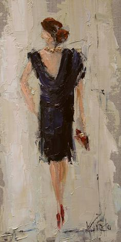 Kathryn Morris Trotter American Impressionist Knife painter Dancing in the Rain Tutt Art@ Kathryn Morris, Back Painting, Woman Painting, Figure Painting, Umbrella Painting, Abstract Portrait, Abstract Paintings, Abstract Art, Mixed Media Canvas