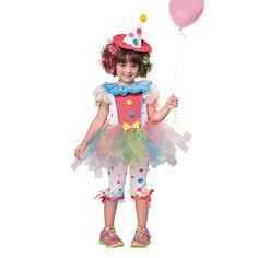 e9a1c48b77e Rainbow Clown Girls Halloween Costume