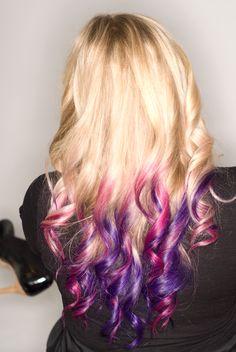 Pink & Purple hair    once my hair gets rapunzel long, i'mma dye it kinda like this.