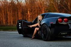 Valentine session with her fiance's car - how awesome is this!  © Studio 247 Photography