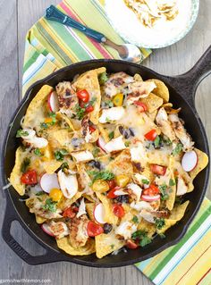 Stubb's Green Chile Fish Nachos