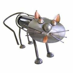 Cat Standing Wine Caddy by Unknown. $85.99. This feline friend is a great gift for the cat lover you know. The cat shaped wine caddy is designed to store one bottle of wine within its hand crafted steel structure. Each cat wine caddy is hand crafted in Germany of recycled steel and copper accents.