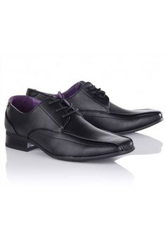 Panel Lace-Up Leather-Look Shoes, Black, Your Shoes, Black Shoes, Derby, Oxford Shoes, Dress Shoes, Lace Up, Footwear, Leather, Men