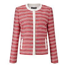 Gerry Weber Stripe Jacket, Red/Ecru