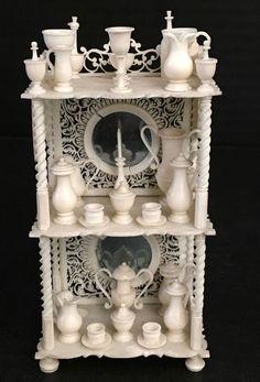 Antique Miniature Dollhouse POW Napoleonic Prisoner of War Hutch 25 Pieces AR118